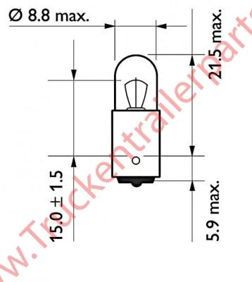 Bulb round 12V 4watt (box of 10)