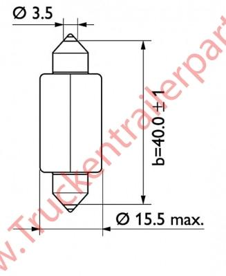 Lamp tube 24V 18watt (box of 10)