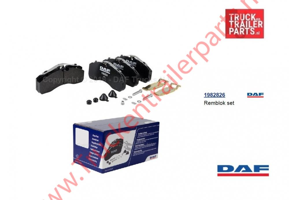 Set brake pad  DAF XF/CF
