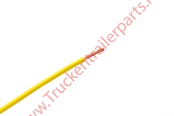 100 mtr single core cable 0.75mm yellow